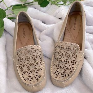 BareTraps Rose Gold Leather Loafers